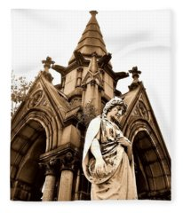Sepia - Forrest Lawn Cemetery - Buffalo New York Fleece Blanket