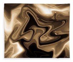Sepia Art Fleece Blanket