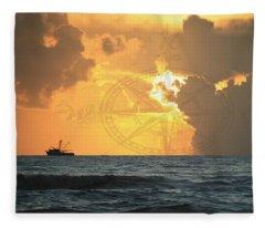 Shrimp Boast Sunrise II Fleece Blanket