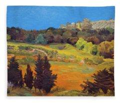Sicily Landscape Fleece Blanket