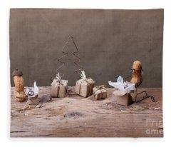 Simple Things - Christmas 05 Fleece Blanket