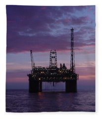 Snorre At Dusk Fleece Blanket