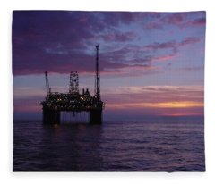 Snorre Sunset Fleece Blanket
