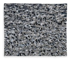 Snow Geese Takeoff Fleece Blanket