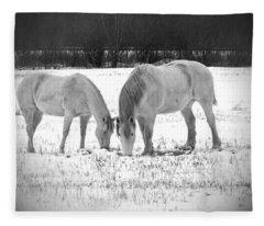 Snow White Beauties Fleece Blanket