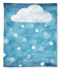 Snow Winter Fleece Blanket
