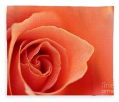 Soft Rose Petals Fleece Blanket