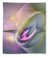 Somnus Futurus -abstract Art Fleece Blanket