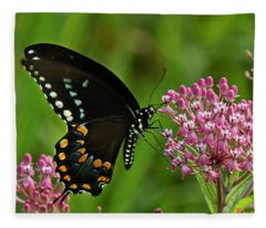 Spicebush Swallowtail Din039 Fleece Blanket
