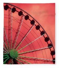 Spinning Wheel Fleece Blanket