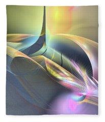 Spiritus Nocturnus - Abstract Art Fleece Blanket