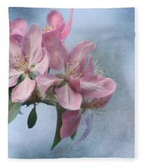 Spring Blossoms For The Cure Fleece Blanket