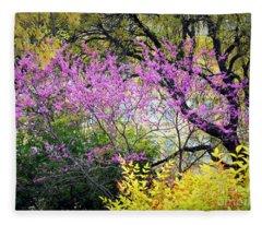 Spring Trees In San Antonio Fleece Blanket