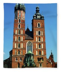 St. Marys Basilica In Krakow Fleece Blanket