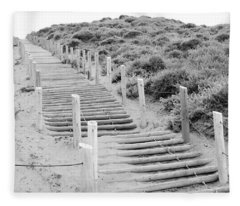 Stairs At Baker Beach Fleece Blanket