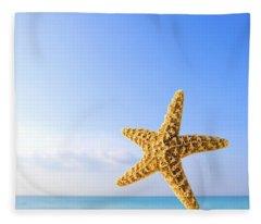 Starfish In Front Of The Ocean Fleece Blanket