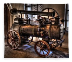 Steam Engine Fleece Blanket
