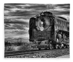 Steam Train No 844 - Iv Fleece Blanket