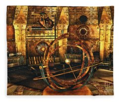 Steampunk Time Lab Fleece Blanket