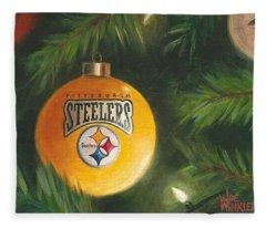 Steelers Ornament Fleece Blanket