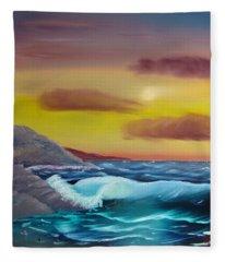 Stormy Beach Fleece Blanket