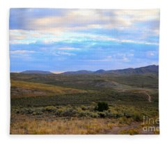Stormy Wyoming Sunrise I Fleece Blanket