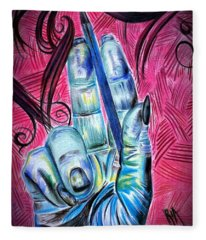 Strokes Of My Soul...  The Life Of An Artist Fleece Blanket