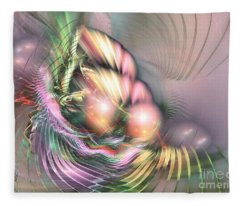 Summer Breeze -abstract Art Fleece Blanket