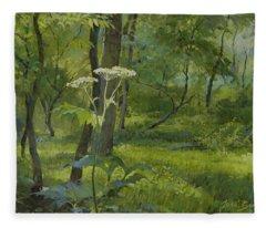 Summer In Fullersburg Woods Fleece Blanket