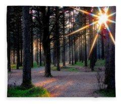 Sun Rays Fleece Blanket