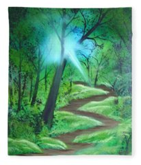 Sunlight In The Forest Fleece Blanket