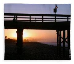 Sunrise Pier Ventura Fleece Blanket
