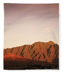 Sunset Mountain 2 Fleece Blanket