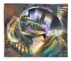 Symphony Of Colors - Abstract Art Fleece Blanket