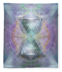 Synthesphered Grail On Caducus Blazed Tapestrys Fleece Blanket