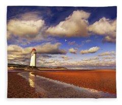 Talacre Lighthouse Fleece Blanket