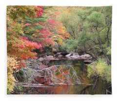 Tanasee Creek In The Fall Fleece Blanket