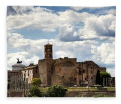 Temple Of Venus And Roma Fleece Blanket