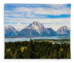 Teton June Panorama Fleece Blanket