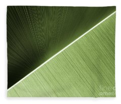 Patterns And Colors. Green. Fleece Blanket