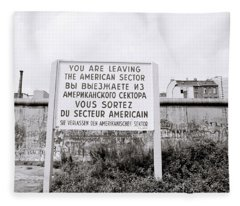 Berlin Wall American Sector Fleece Blanket