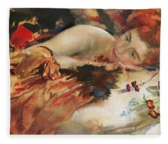 The Artist's Mistress Fleece Blanket