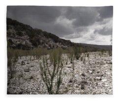 The Bank Of The Nueces River Fleece Blanket