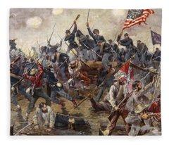The Battle Of Spotsylvania Fleece Blanket