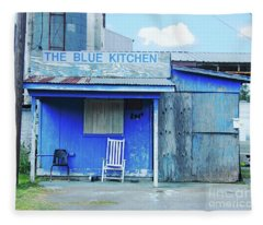 The Blue Kitchen Fleece Blanket