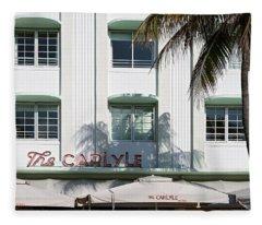The Carlyle Hotel 2. Miami. Fl. Usa Fleece Blanket
