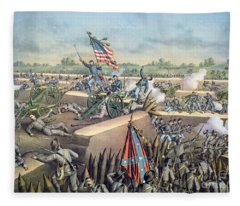 The Fall Of Petersburg To The Union Army 2nd April 1965 Fleece Blanket
