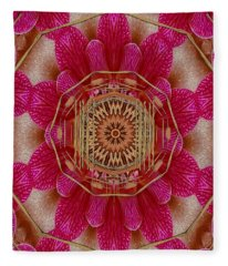 The Golden Orchid Mandala Fleece Blanket