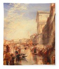 The Grand Canal Scene - A Street In Venice Fleece Blanket