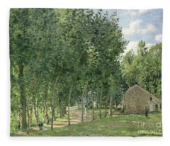 The House In The Forest Fleece Blanket